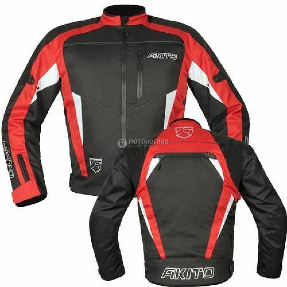 Куртка Akito horizont jkt blk/red/wht