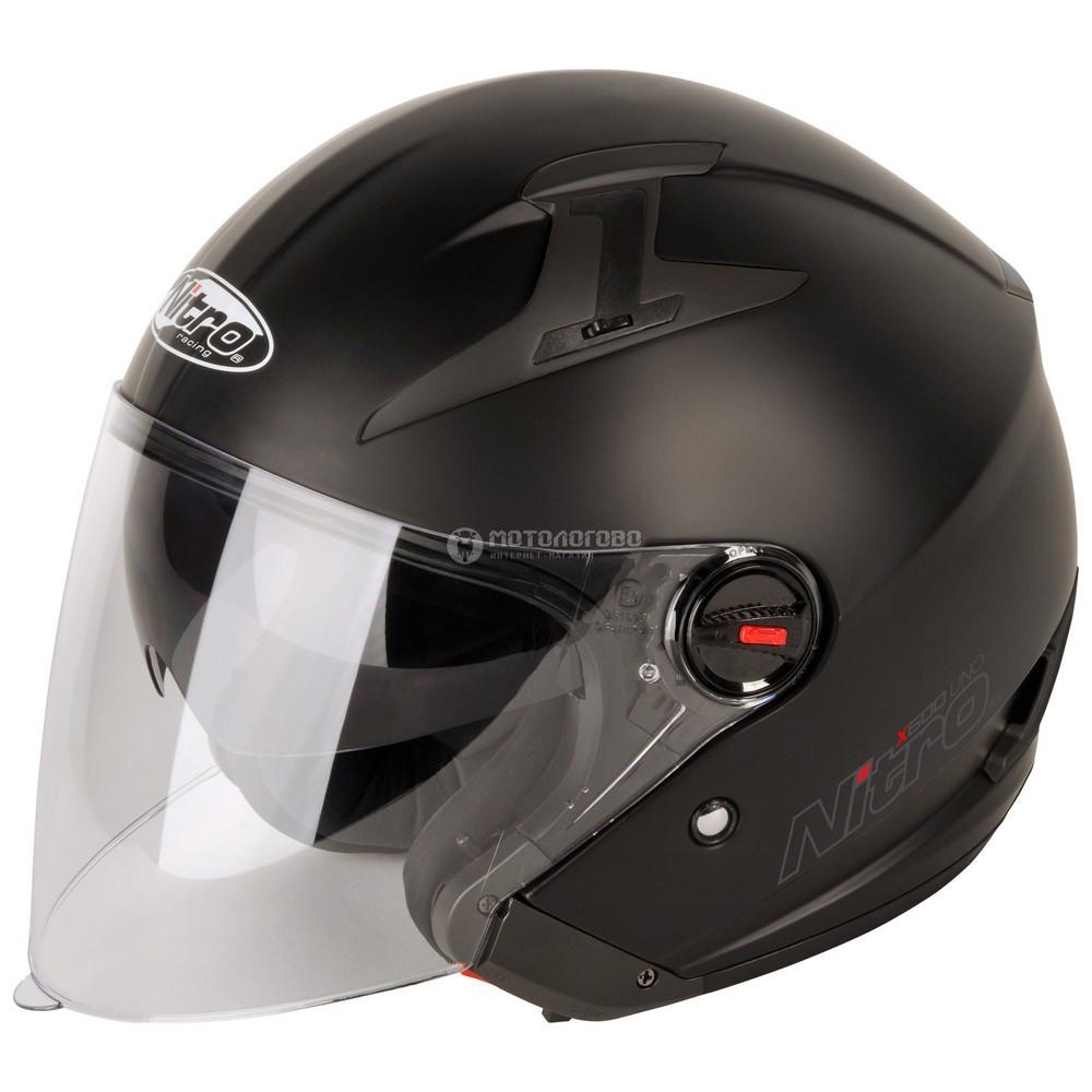 Шлем полулицевик Nitro x600 uno satin black