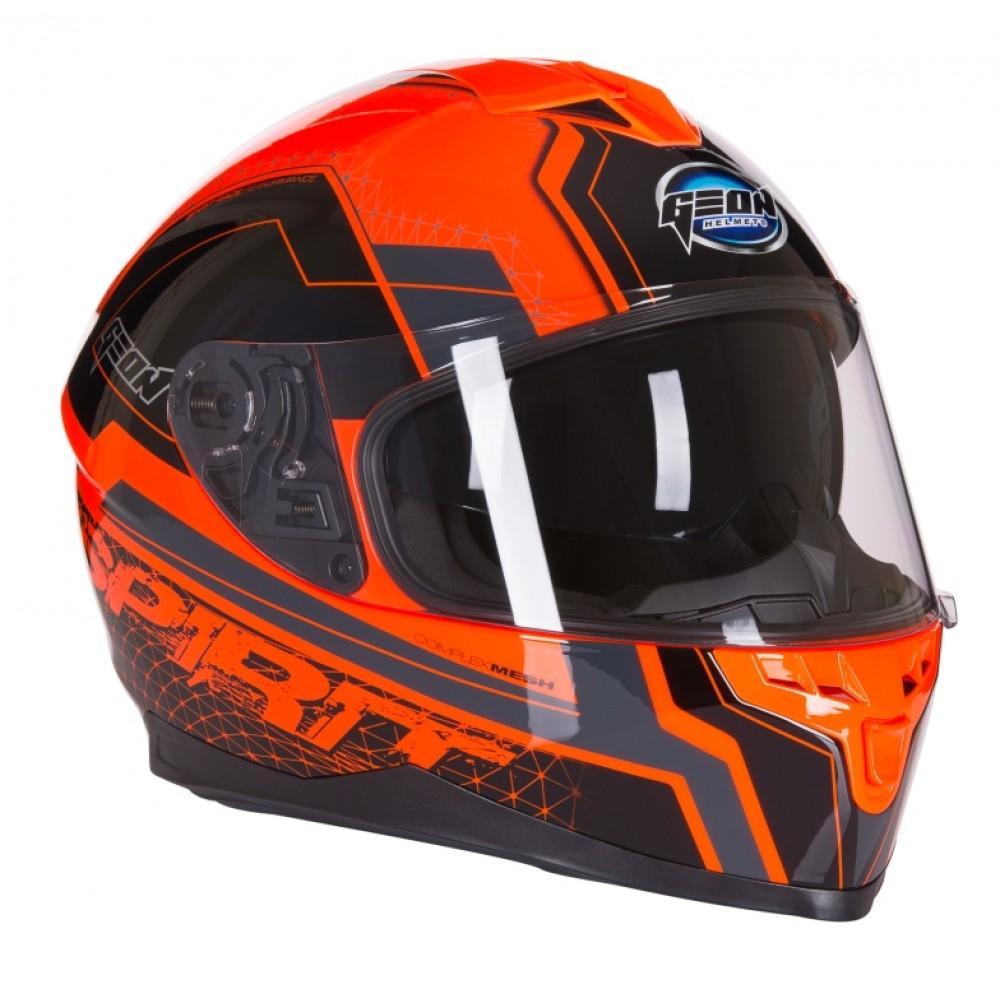 Шлем GEON 967 Интеграл с очками SPIRIT BLACK/ORANGE