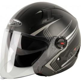 Шлем полулицевик Nitro x600 tetra black/guN..
